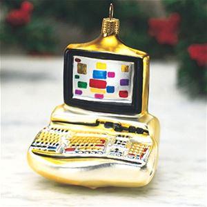 Computer German Glass Christmas Ornament Italian Ornaments