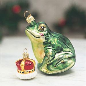 prince frog german glass christmas ornament